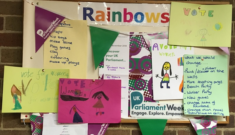 94th Rainbows take part in Parliament Week